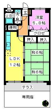 ADVANCE21 / 103号室間取り