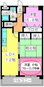 ADVANCE21 / 303号室間取り