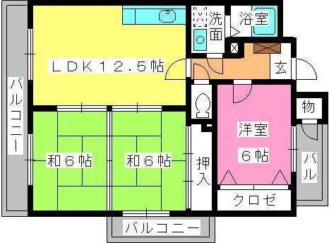 ディナスティⅤ / 201号室間取り