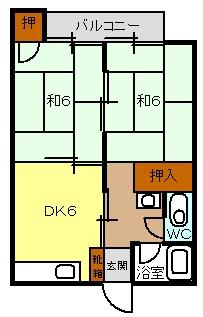 岡本ビル / 202号室間取り