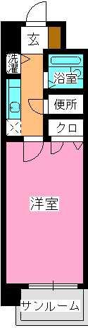 ピュア春日公園 / 102号室間取り