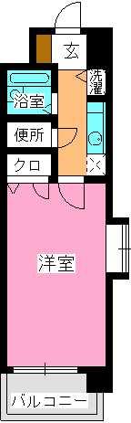ピュア春日公園 / 403号室間取り