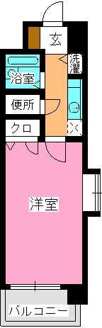 ピュア春日公園 / 703号室間取り