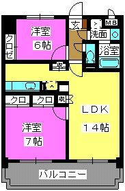 アーバニティー春日原 / 503号室間取り