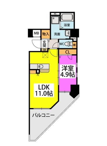 仮)春日原駅前マンション / 501号室間取り