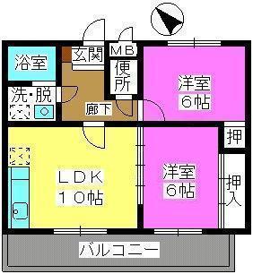 サンシャトーレ日永田 / 301号室