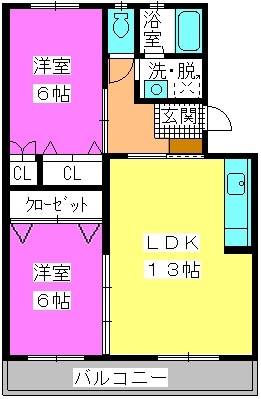 ロイヤルコーポ神田 / 102号室間取り