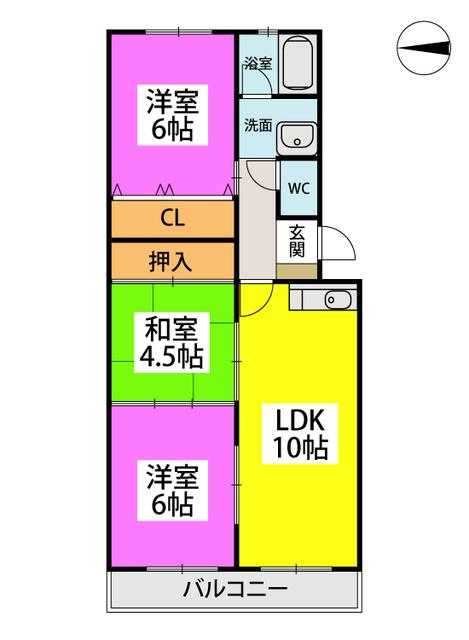 清原レジデンス / 305号室間取り