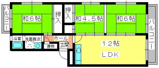 第二城戸ビル / 201号室間取り