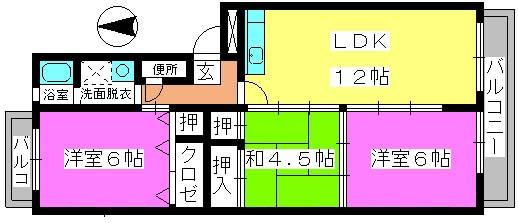 第二城戸ビル / 402号室間取り