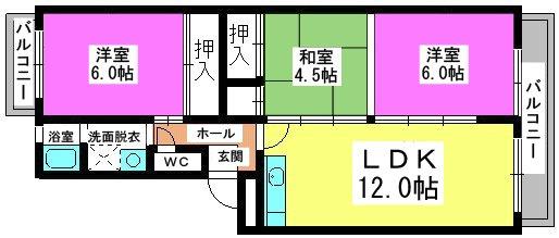 第二城戸ビル / 406号室間取り