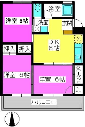 第一城戸ビル / 103号室間取り