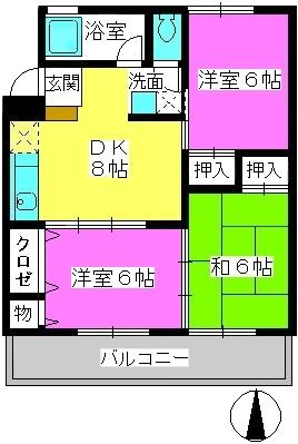 第一城戸ビル / 302号室間取り