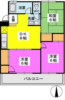 第一城戸ビル / 402号室間取り