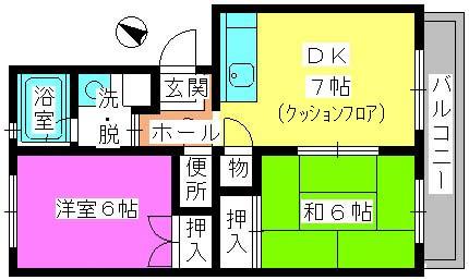 レジデンス飯田 / 106号室間取り
