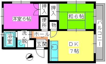 レジデンス飯田 / 107号室間取り