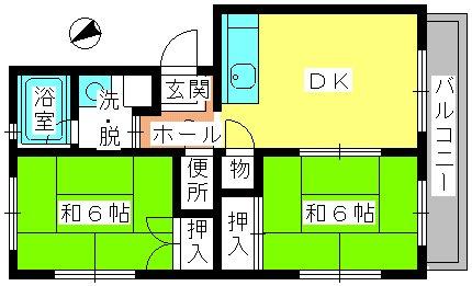 レジデンス飯田 / 206号室間取り