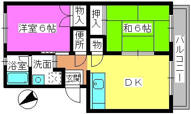 レジデンス飯田 / 305号室間取り