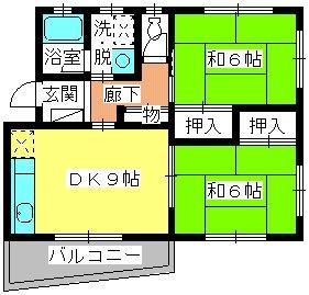 レジデンス沖 / 102号室間取り