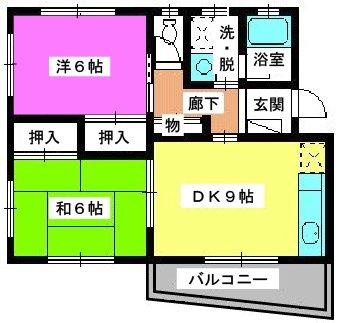 レジデンス沖 / 201号室間取り