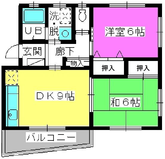 レジデンス沖 / 302号室間取り