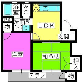 パークハイツ三宅 / 202号室間取り