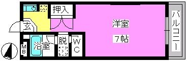エクセル大橋 / 203号室間取り