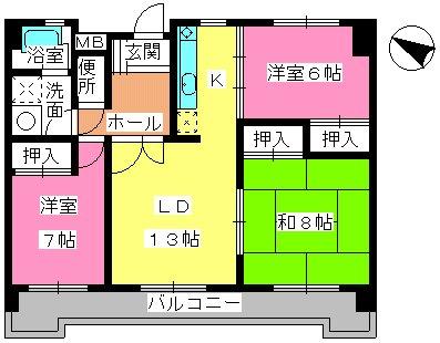 サクセス諸岡 / 505号室間取り