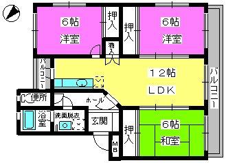 コーネル井尻 / 201号室間取り
