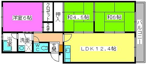 メゾンコーポ24 / 105号室間取り