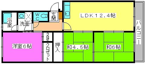 メゾンコーポ24 / 106号室間取り