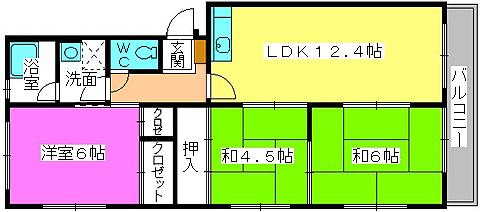 メゾンコーポ24 / 401号室間取り