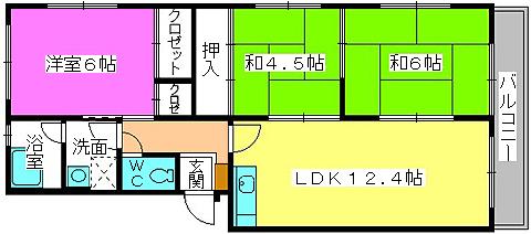 メゾンコーポ24 / 407号室間取り