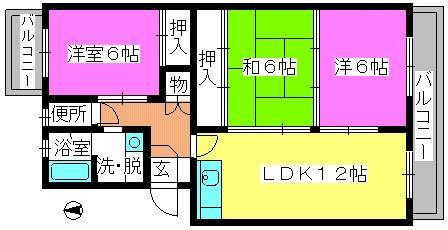 ハイツ立川 / 305号室間取り