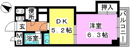 アバンティ野間 / 202号室間取り