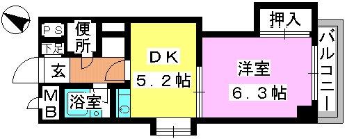 アバンティ野間 / 307号室間取り
