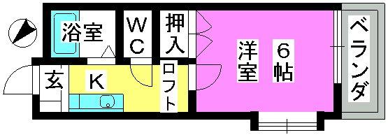 第3的野コーポ / 201号室間取り