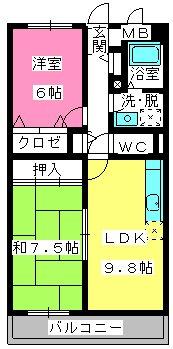 アバンダントTOU / 302号室間取り