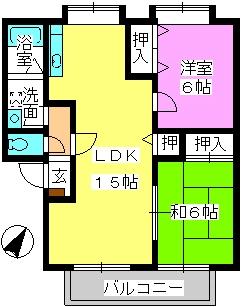 ティアラ飯田 / 102号室間取り