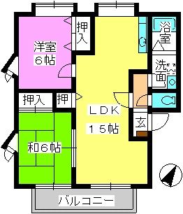 ティアラ飯田 / 201号室間取り