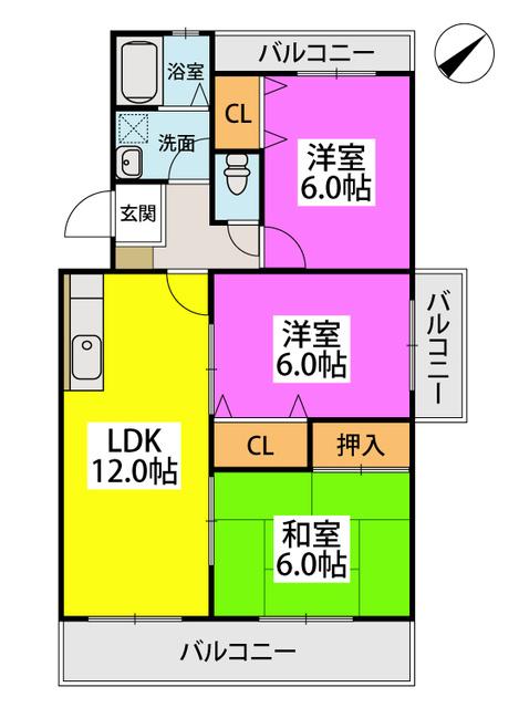 ローヤル南福岡 / 405号室間取り