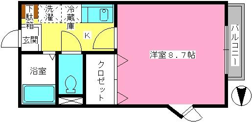 ドルフィン・ブルー / 201号室間取り