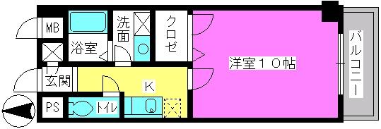 レイ・トレース / 301号室間取り