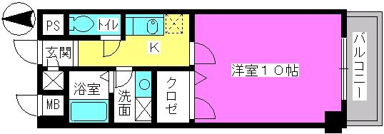 レイ・トレース / 305号室間取り