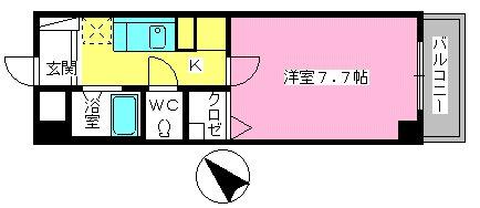 シャトレTOKIE / 101号室間取り