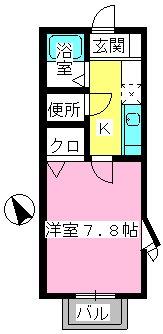 メゾン・ド・アイム / 205号室間取り