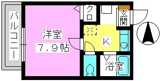 レグラス98 / 101号室間取り