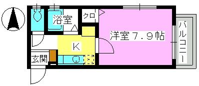 レグラス98 / 103号室間取り