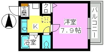 レグラス98 / 105号室間取り