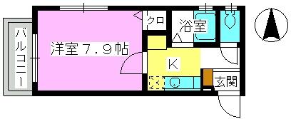 レグラス98 / 202号室間取り